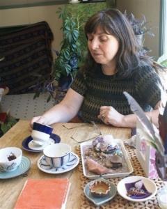 Tanya Giving a Tea Leaf Reading